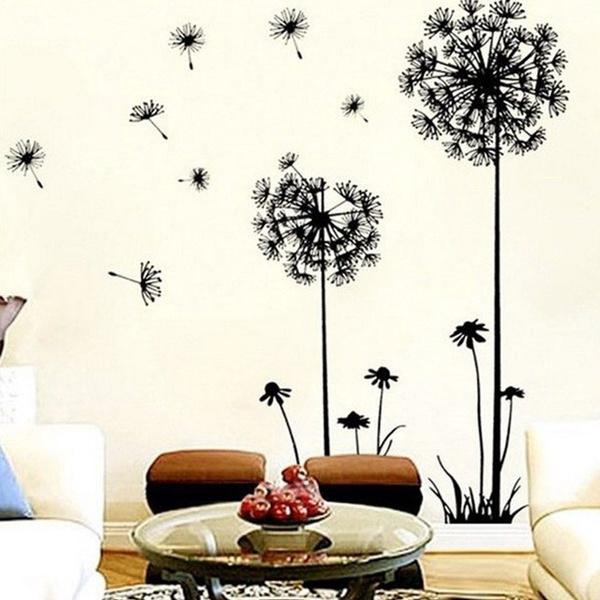 Wish   Coromose Creative Dandelion Removable Mural PVC Wall Art ...