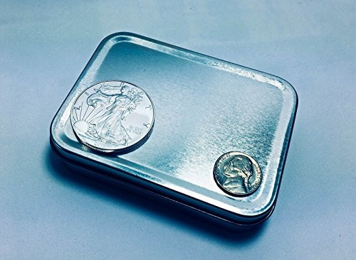 3 Count 4.25 x 3.12 by 1 inch Upgraded Larger Tin Box Container by Bruno Life