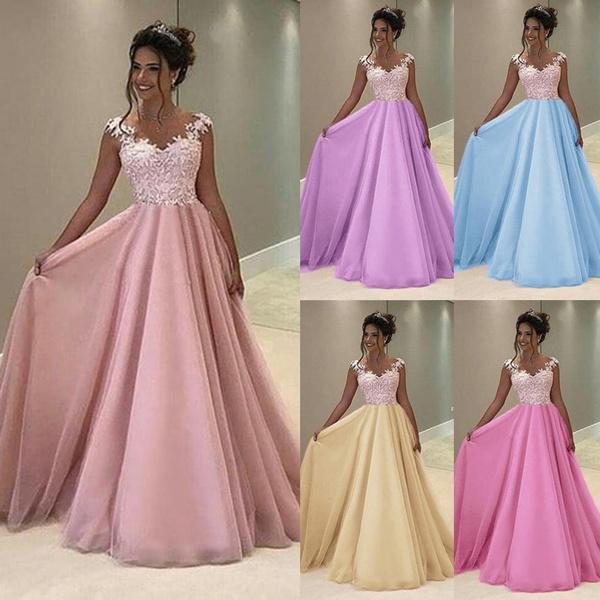 6d35fe83fd0 Sexy Women Fashion V-neck Prom Dress Sleeveless Lace Maxi Dresses ...