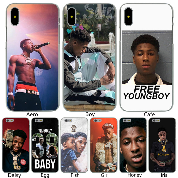 new style 52d68 25b30 P24 Youngboy Never Broke Again Hard Transparent Phone Shell Case for Apple  iPhone 10 8 7 6 6s Plus 5 5S SE 5C 4 4S Cover for iPhone X 8