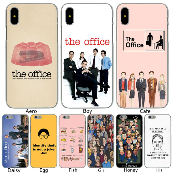 cheaper 99f10 4bae5 P21 The Office Funny Humor Hard Transparent Phone Shell Case for iPhone 8 7  6 6s Plus 5 5S SE 5C 4 4S 10 Cover for Apple iPhone X XR XS Max Cases