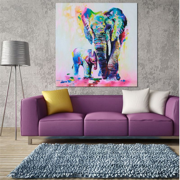 Abstract Elephant Sofa Background Wall Art Decor Canvas Oil Painting Unframed Art Print Poster Home Office Decor Gift