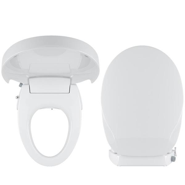 Marvelous Bidet Seat Dual Self Cleaning Nozzles Sleek Style Elongated Non Electric Bidet Toilet Seat Bathroom Ibusinesslaw Wood Chair Design Ideas Ibusinesslaworg