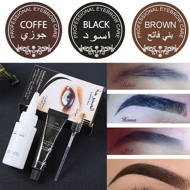 Eyelash Eyebrow Dye Tint Gel Eye Brow Mascara Cream W Brush Kit