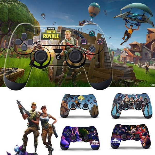 2 Pcs Fortnite Sticker For Playstation 4 Ps4 Game Controller Skin Stickers Decal Vinyl Fortnite Game For Ps4 Slim Skins Stickers