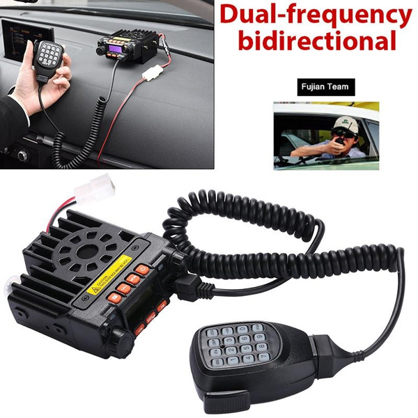 Two Way Radio Mini FM Radio Dual-Band Mobile Radio Transceiver VHF UHF  Remote Kill Car Walkie Talkie Auto Lock Remote Activate