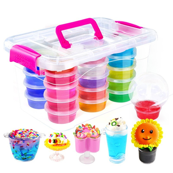 1PC non-toxic Crystal Clay or Super Light Clay or Fruit Crystal Mud  Educational Toy for Kids