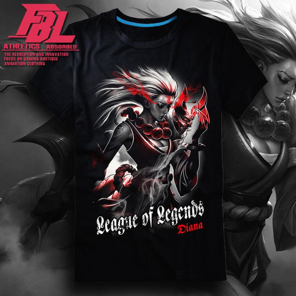 League Of Legends Lol Diana Mens Fashion T Shirt Punk Rock Short Sleeve T Shirts Casual Summer Dress Funny Printed Tops