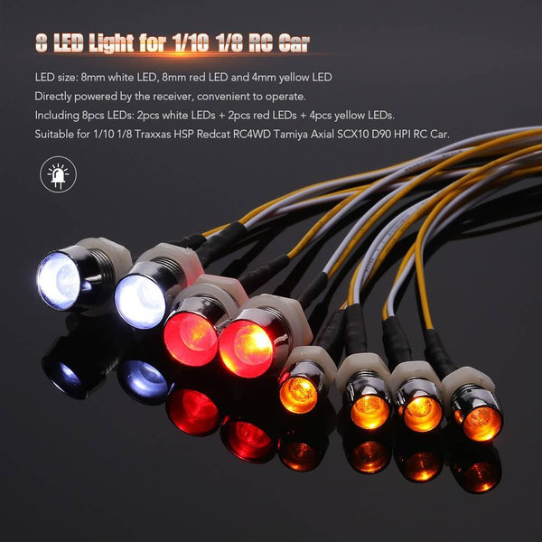 Wish | 8 LED Light Kit 2 White 2 Red 4 Yellow Party light Christmas lamp