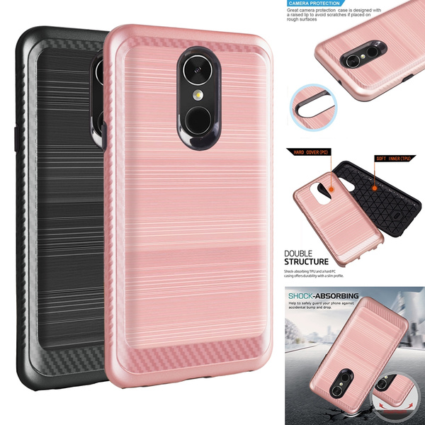 Brushed Shockproof Protective Armor Cover Case For Samsung Galaxy J3 2017  2018 / LG Aristo / Phoenix 3 / Fortune / Stylo 4 / Motorola E4 / E4 Plus /