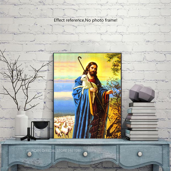 5D Diamond Painting Jesus Christ Religious Cross Stitch Embroidery Home Decor