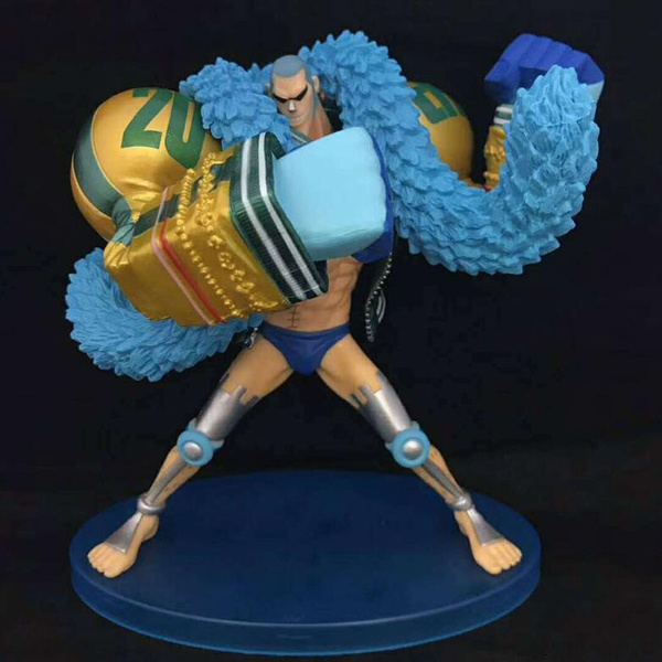 Japan Anime One Piece Franky Figures H 20th Anniversary Starw Hat Crew  Pirate PVC Action Figure Collection Model Toy Dolls Gifts 17 5cm