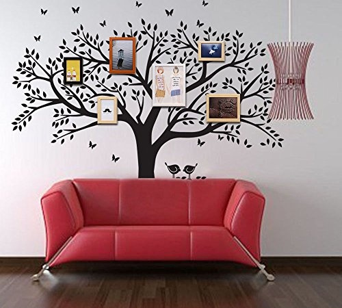 Wish | ANBER Family Tree Wall Decal Butterflies and Birds Wall Decal ...