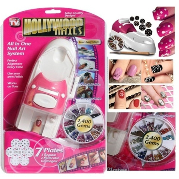 Wish | Hollywood Nails All in One Professional Nail Art System Kit ...