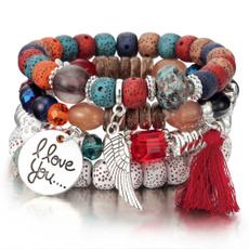 bohemia, Charm Bracelet, Tassels, Beautiful Bracelet