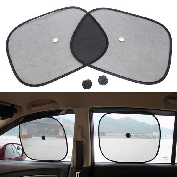 7f87faa667bc New 2PCS Black Car Rear Window UV Mesh Sun Shades Blind Kids ...