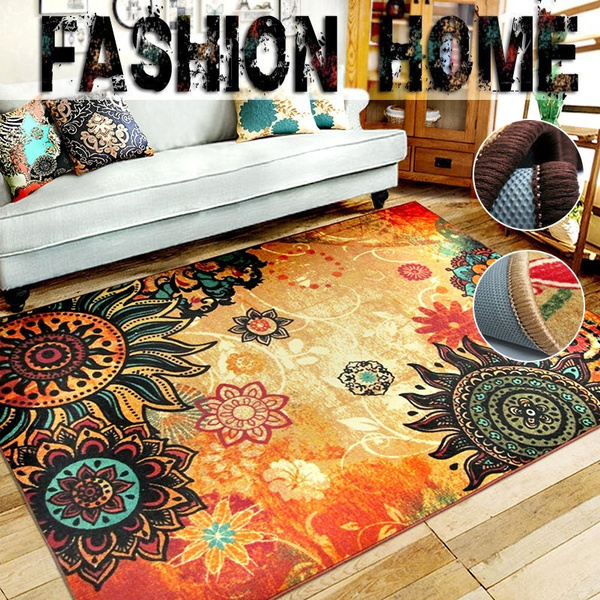 Shaggy Anti-skid Carpets Rugs Floor Mat/Cover 80*120cm .