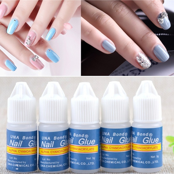 Wish | 5 Bottle Acrylic Nail Art Glue French False Tips Manicure ...