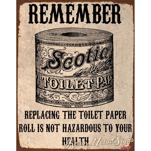 Funny Bathroom Metal Tin Sign Poster