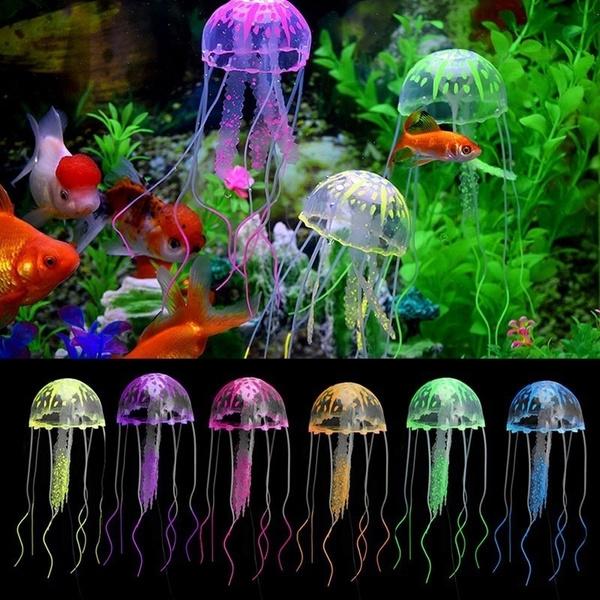 Aquarium Jellyfish Decoration Glowing Effect Fish Tank Artificial Ornament Of Montre