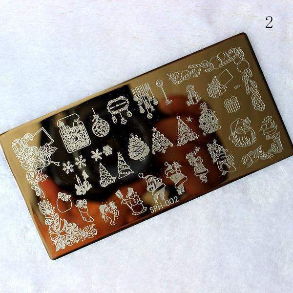 Wish Christmas Nail Art Stamp Stencil Stamper Design Stamping