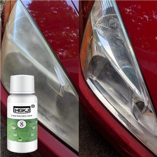20ML HGKJ-8 Car Refurbishment Renovation Brightener Restoration Renewal Kit  Cleaner Headlamp Car Lens