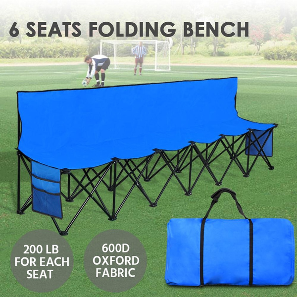 Strange Lightweight Portable Folding Bench Folding Chair Camping Chair Outdoor Team Bench 6 Seater Blue Dailytribune Chair Design For Home Dailytribuneorg