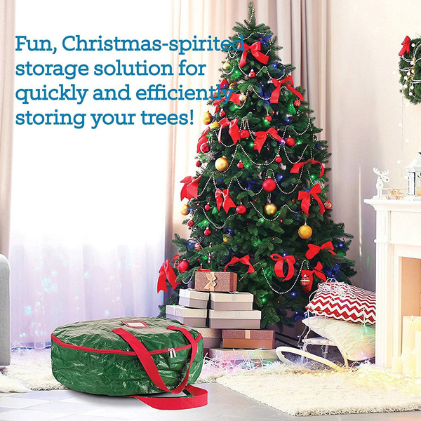 wish 30 tear resistant storage bag for wreath storage with sleek zipper christmas wreath storage bag