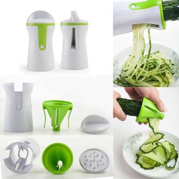Spiral Slicer Cutter Fruit Vegetable Spiralizer Twister Peeler Kitchen Tool