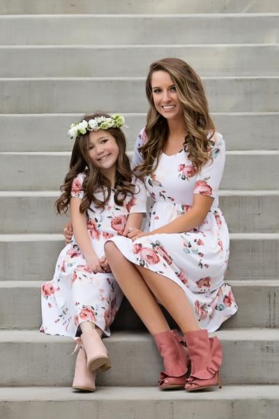 941b02ae8c Mother-Daughter-Matching-Dresses | Wish