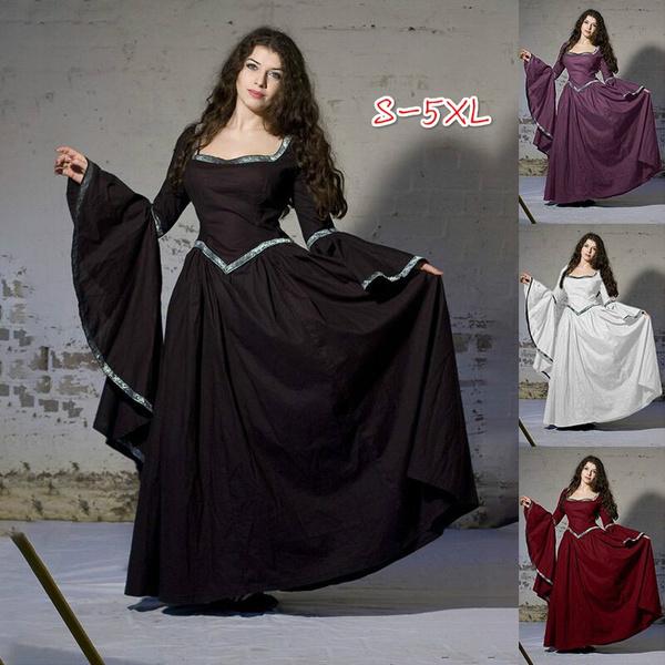 Mode Avondjurken.Medieval Renaissance Women Maxi Dress Cute Fairy Dress Elven Dress