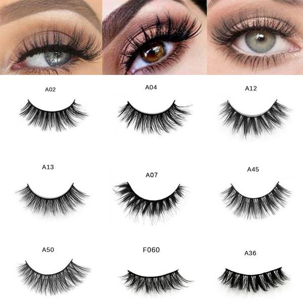 Wish 3d Long Mink Lashes Extension Eyelash Natural False Eyelashes