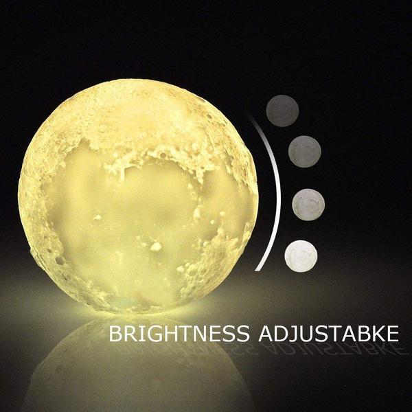 15cm LED Mond Lampe Farbige Dekoleuchte Mond Kunst LED RGB Mondlicht Nachtlicht