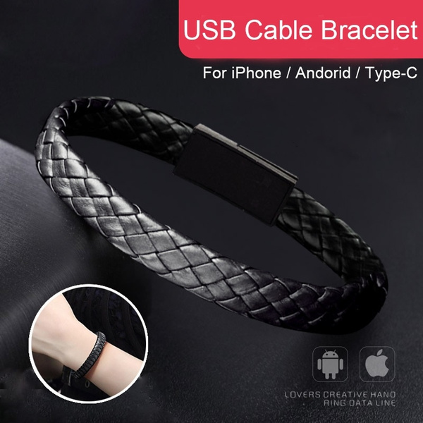 Leather Bracelet Link Charging Cable