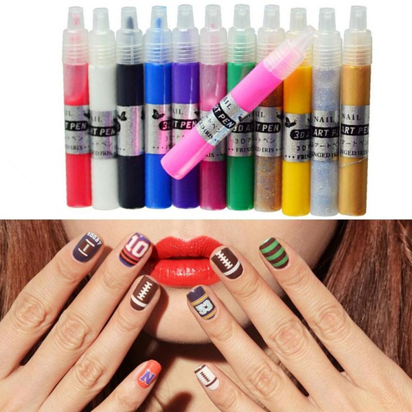 12 Color Nail Art Paint Pens Set