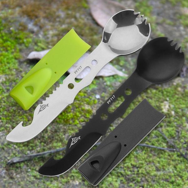 8-in-1 Multi-purpose Stainless Steel Spork Outdoor Camping Survival Fork Spoon