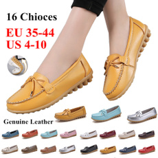 casual shoes, Flats, Plus Size, leather shoes