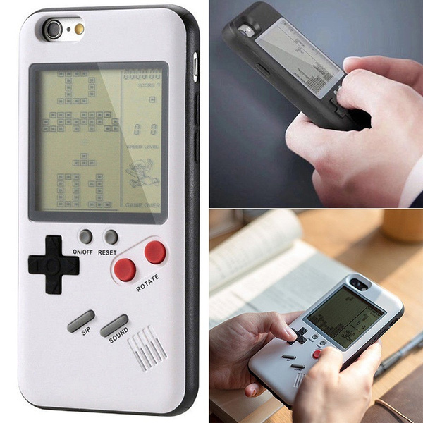 Tetris Protector Case Accessories Battle City Mobile Phone Case Game  Console Retro Back Cover Silicone Dustproof DSG