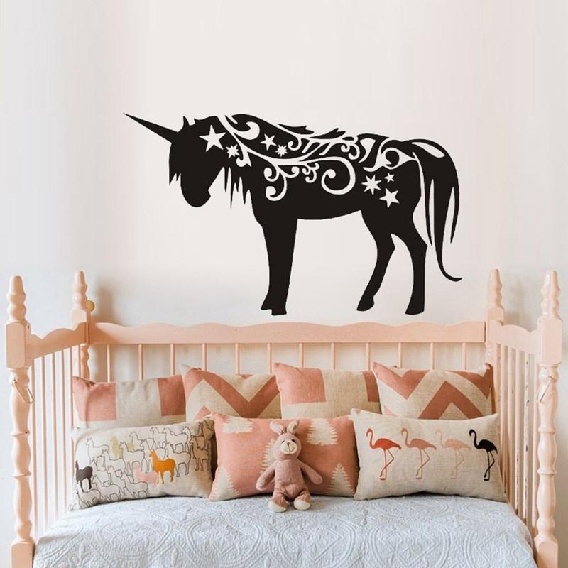 unicorn home vinyl wall decal bedroom graphics sticker decor mural