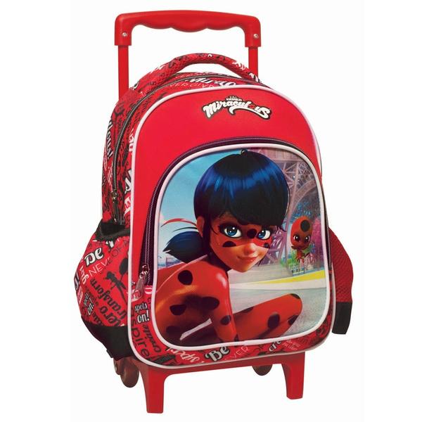 la meilleure attitude 5e0c6 8dfbb Sac à roulettes trolley maternelle Ladybug Miraculous Friends 31 CM -  Cartable
