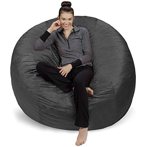 Sofa Sack Bean Bags 6 Feet Bean Bag Giant Charcoal