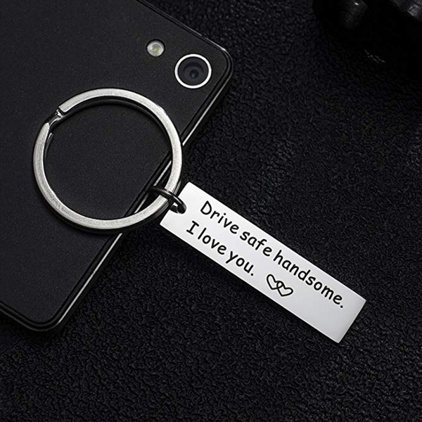 Keyring Drive Safe Keychain Key Ring Chain Gift For Husband Boys Friend Dad Gift