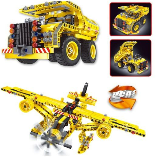 Assemble engineering bulldozer 301 building blocks toys
