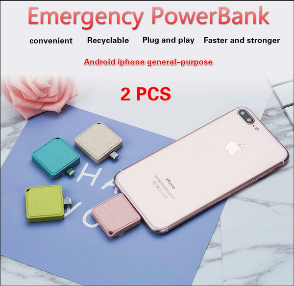 Convenience Small and clever Field emergency Power Bank 1000mAh Ports Huge  Capacity Battery Pack For iPhone, For Samsung Galaxy, Android and other