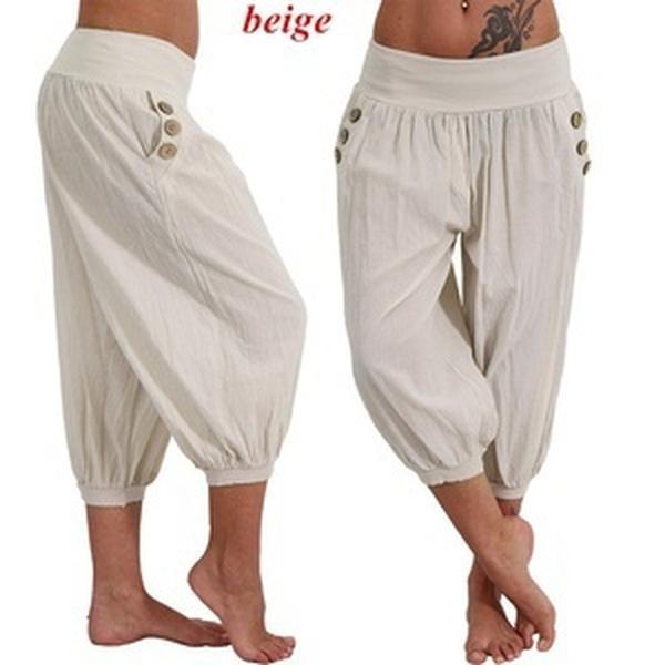 10fec4d28d Wish | 2018 Women's Fashion Plus Size Solid Color Casual Long Pant Loose  Baggy Harem Yoga Pants Women Trousers 5XL