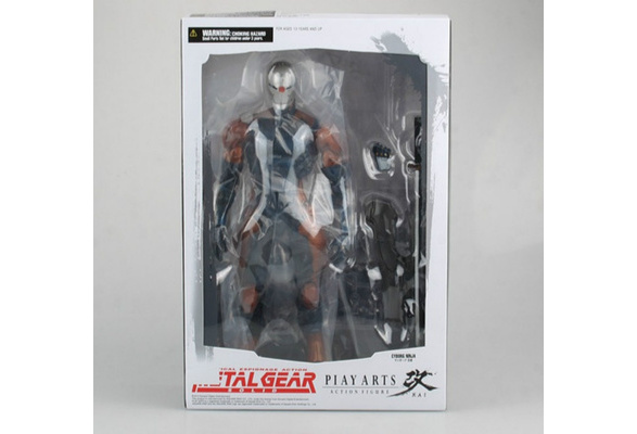Play Arts Kai Metal Gear Solid Cyborg Ninja Gray Fox Action Figure New In Box #
