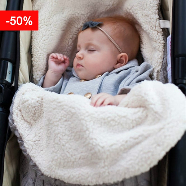 reputable site 5b95b bc4e9 Autumn Winter Newborn Baby Blanket Swaddle Sleeping Bag Kids Toddler Sleep  Sack Stroller Wrap