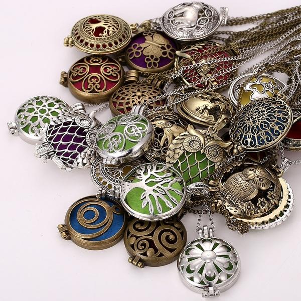 scentnecklace, Antique, aromatherapynecklace, perfumenecklace