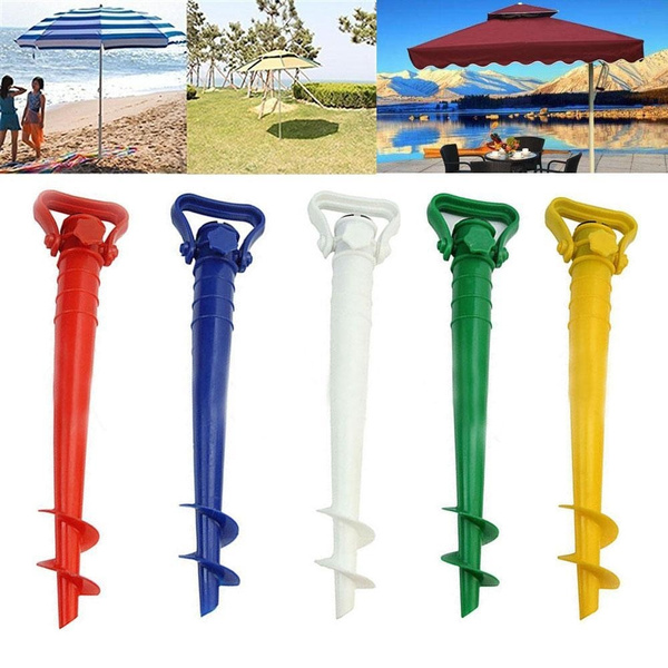 1pcs Patio Umbrella Base Screw In Parasol Base Ground Anchor Spike Stand  Garden Umbrella Holder Base