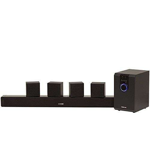 Sharper Image 5 1 Home Theater System With Subwoofer, Sound Bar & Satellite  Speakers, Home Theater in a Box Surround Sound System (Worry-Free 12-Month